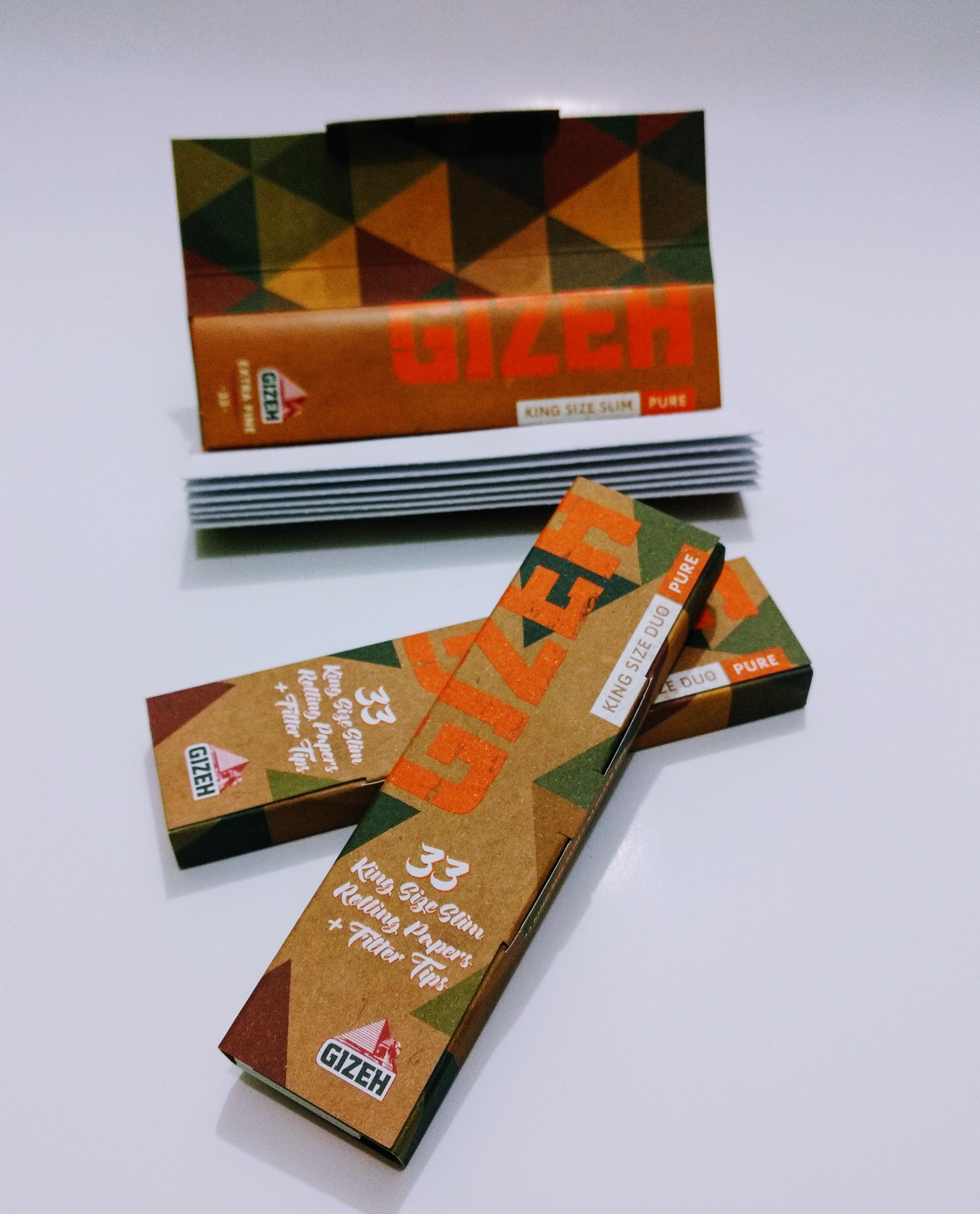 Papel Gizeh Pure Extra Fino King Size + Tip