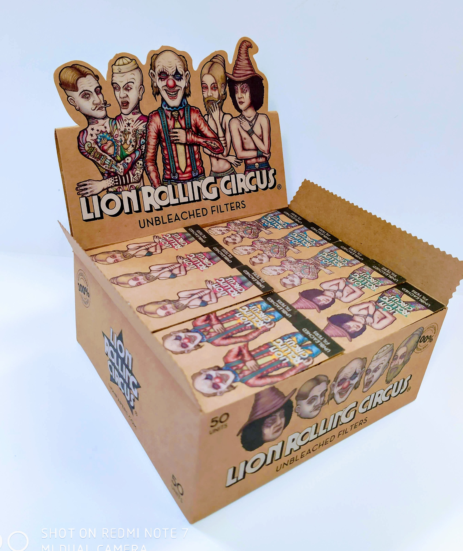 Filtros de Carton Troquelados Lion Rolling Circus